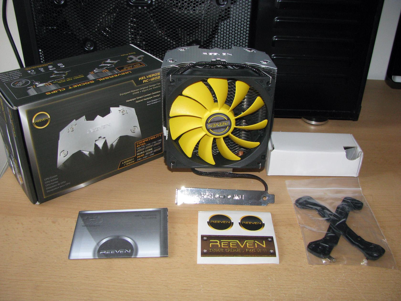Reeven Kelveros Rc1202 Test And Review Fan Processor Lga 775 Original Inside